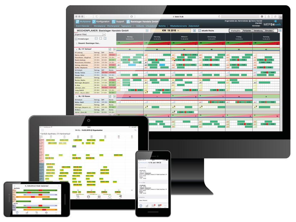 MEP24web auf Ihrem PC, iPad und Smartphone