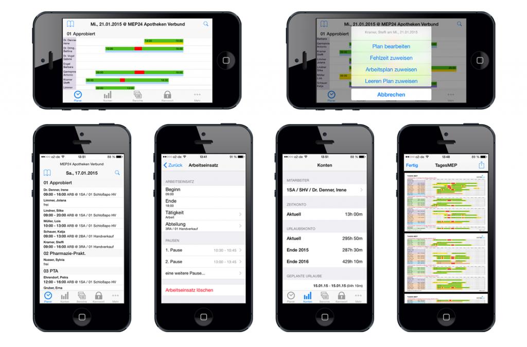 MEP24plan für iOS und Android